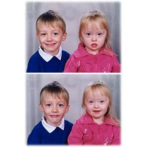 Swapping out the smiles on school portraits to make a better image, before retouching