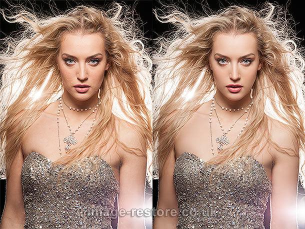 Photo restoration skills used for photo retouching