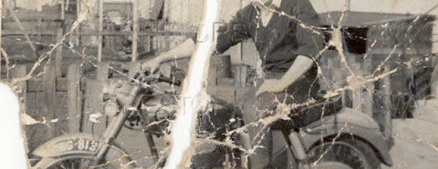 Motorbike photo before photo repair