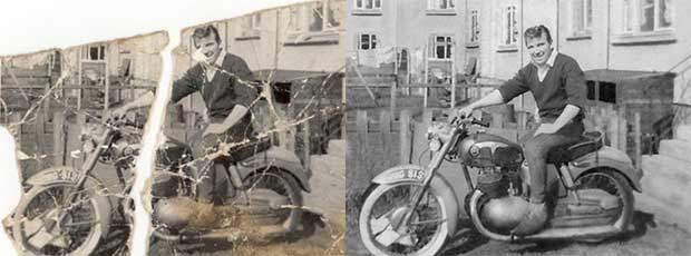 Motorbike photo restoration
