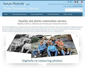 Our new photo restoration website goes live
