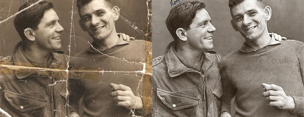 Norman Wisdom Photo Restoration