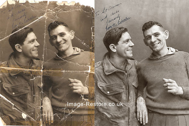Photo restoration Sir Norman Wisdom