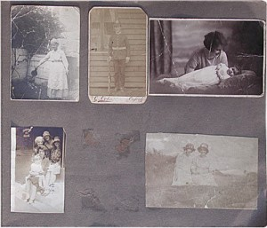 Old photo album page