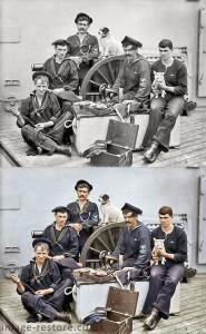 1896 USS New York sailors coloured