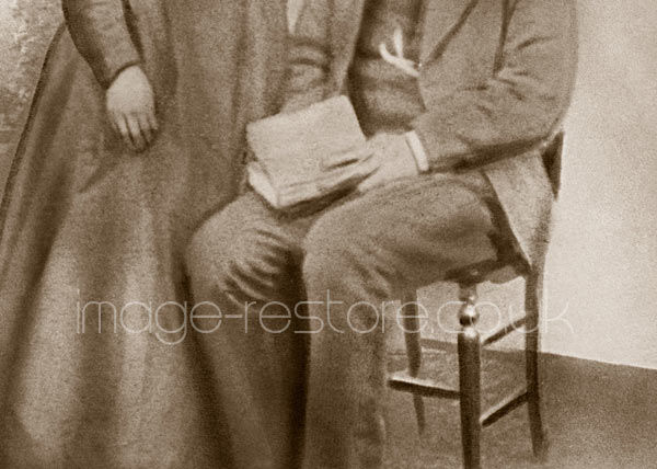 Old photo restoration techniques in the 1800's when photographic equipment needed a helping hand