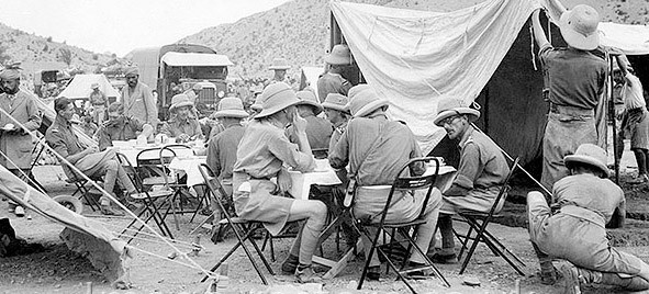 Old photos show humans will picnic anywhere