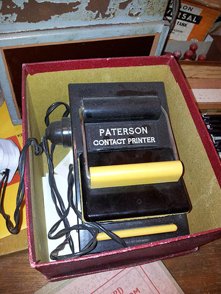 Paterson contact printer Bakelite