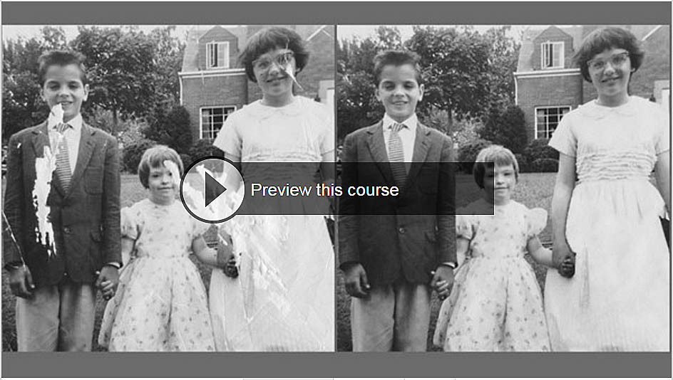 Photo restoration course, fixing missing pieces