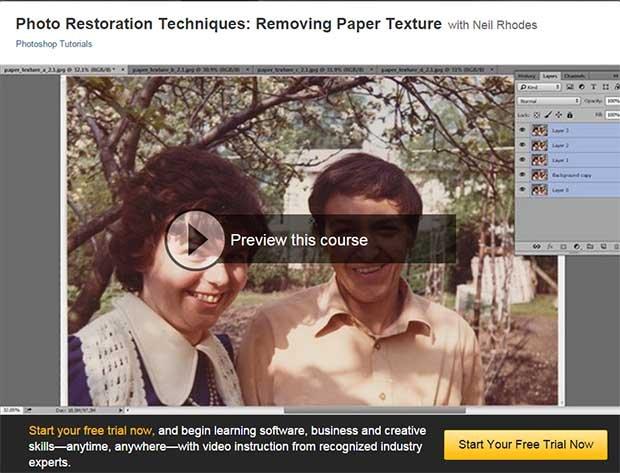 Removing paper texture tutorial