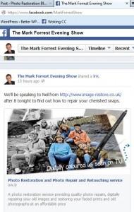 On BBC Radio with mark Forrest