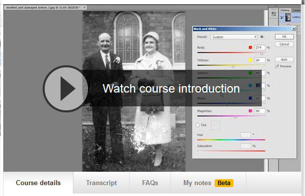 Photo restoration secrets video
