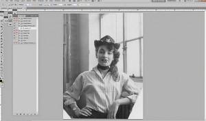 Photo restoration timelapse