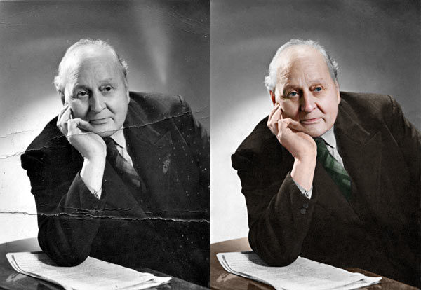 Restore retouch and recolour