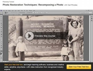 Recomposing an old photo video tutorial