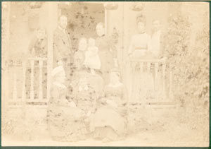 Restoring an old, very faded photo, before restoration