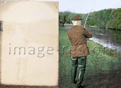 Restore faded colour photographs