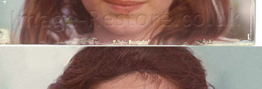 Restoring hair in old photos
