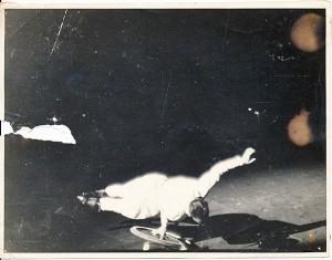 Scanned image of a damaged photo