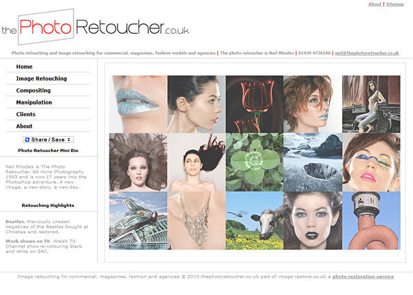 Photo retouching and image retouching for commercial, magazines, fashion models and agencies
