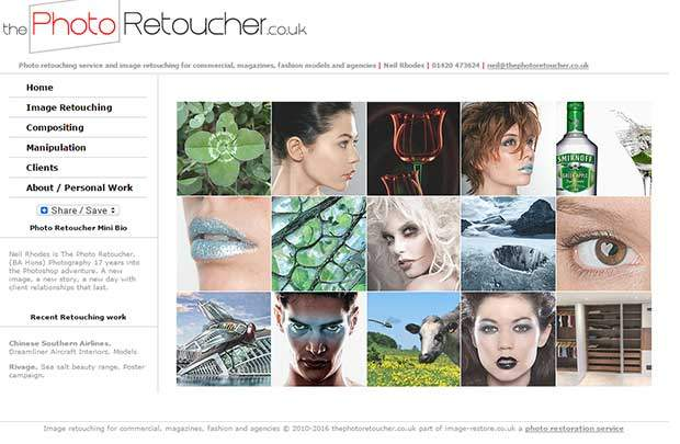 Photo retouching portfolio on thephotoretoucher.co.uk