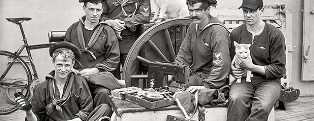 Time travelling 1896 sailors spot the modern articles