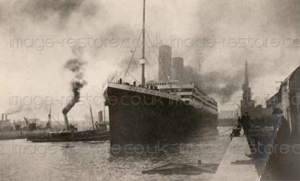 Were Titanic photos 1912 Southampton retouched by editors?