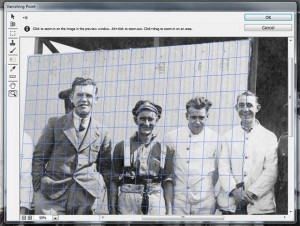 Vanishing point and clone to restore old photos