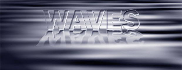Text waves effects in photoshop