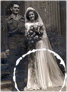 Removing marks from your wedding photos before restoration