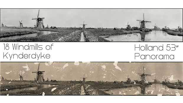 Windmills of Holland photo restoration